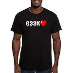 Geek <3 Men's Fitted T-Shirt (dark)