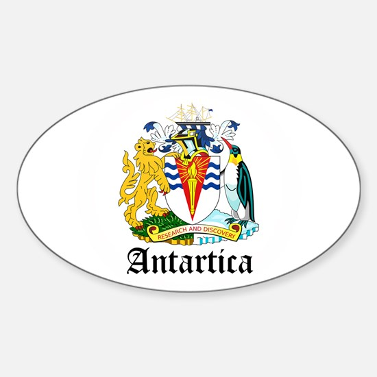 Antarctican Coat of Arms Seal Oval Decal