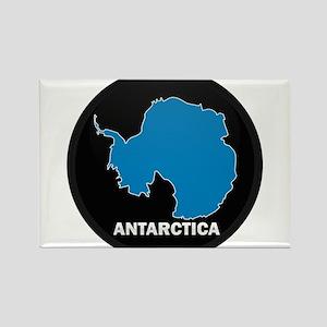Flag Map of Antarctica Rectangle Magnet