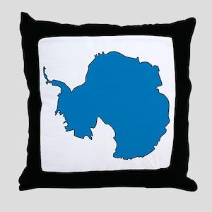 Antarctica Flag Map Throw Pillow