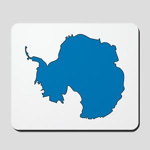 Antarctica Flag Map Mousepad