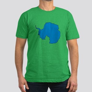 Antarctica Flag Map Men's Fitted T-Shirt (dark)