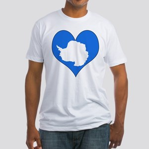 I Love Antarctica Fitted T-Shirt