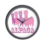 Alpaca 4 P Wall Clock