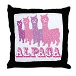 Alpaca 4 P Throw Pillow