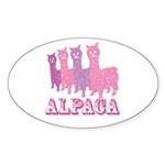 Alpaca 4 P Oval Sticker (10 pk)