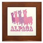Alpaca 4 P Framed Tile