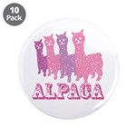 "Alpaca 4 P 3.5"" Button (10 pack)"