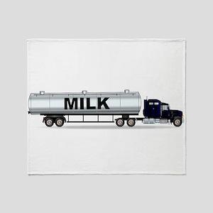 Milk Tanker Truck Throw Blanket