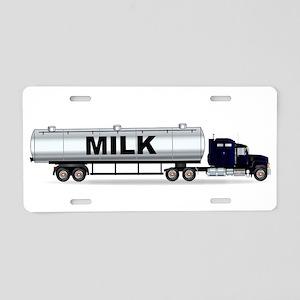 Milk Tanker Truck Aluminum License Plate
