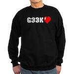 Geek <3 Sweatshirt (dark)