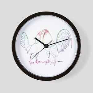 Neon Gamefowl Wall Clock
