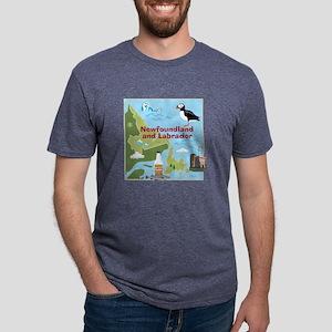 Newfoundland and Labrador Map T-Shirt
