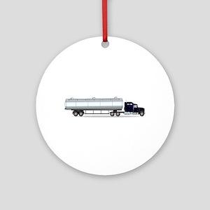 Petrol Tanker Truck Round Ornament