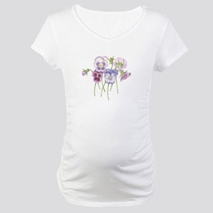 Pretty Pansy Maternity T-Shirt