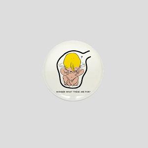 Blonde EGGBERT Wonder What Mini Button
