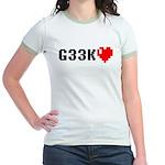 Geek <3 Jr. Ringer T-Shirt