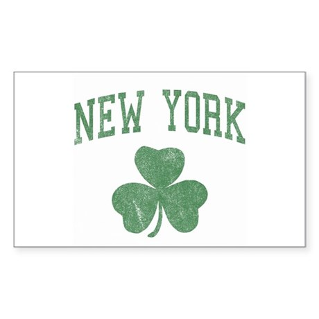New York Irish Rectangle Sticker