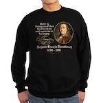 Benjamin Franklin Beer Quote Sweatshirt (dark)