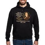 Benjamin Franklin Beer Quote Hoodie (dark)
