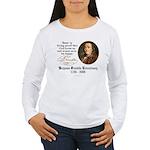 Benjamin Franklin Beer Quote Women's Long Sleeve T
