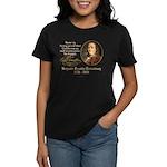 Benjamin Franklin Beer Quote Women's Dark T-Shirt