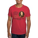Benjamin Franklin Beer Quote Dark T-Shirt