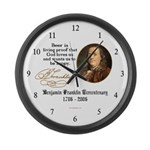 Benjamin Franklin Beer Quote Large Wall Clock