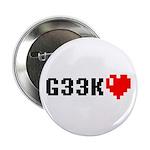 """Geek <3 2.25"""" Button (100 pack)"""