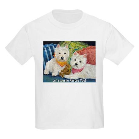 WESTIE LET A WESTIE RESCUE YOU! Kids Light T-Shirt