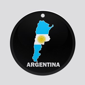 Flag Map of Argentina Ornament (Round)