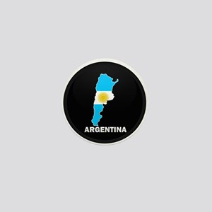 Flag Map of Argentina Mini Button