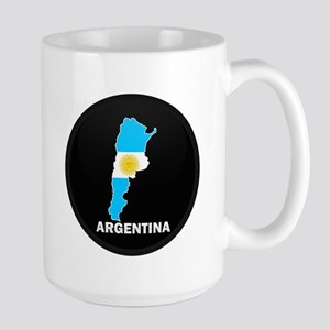 Flag Map of Argentina Large Mug