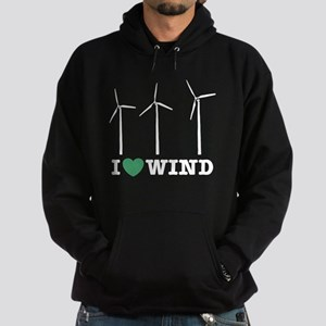 I Love Wind Hoodie (dark)