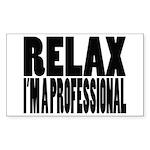 Professional Rectangle Sticker