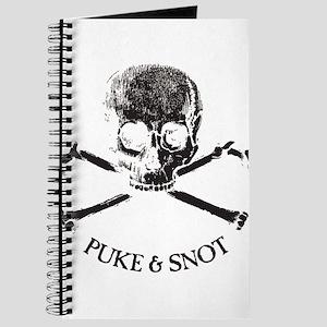 Puke N Snot Skull Logo Journal