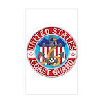 Coast Guard Masons Rectangle Sticker