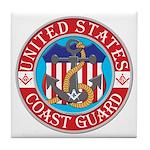 Coast Guard Masons Tile Coaster