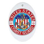 Coast Guard Masons Oval Ornament