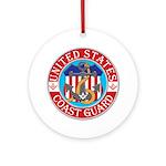 Coast Guard Masons Ornament (Round)