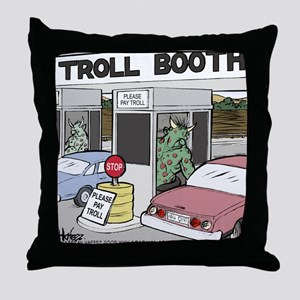 Troll Booth Throw Pillow