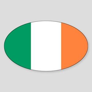 Irish Flag Oval Sticker