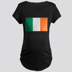 Irish Flag Maternity Dark T-Shirt