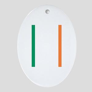 Irish Flag Oval Ornament