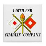 146th ESB Charlie Co Tile Coaster