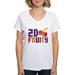 2D Fruity Women's V-Neck T-Shirt
