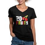 2D Fruity Women's V-Neck Dark T-Shirt