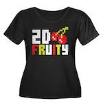 2D Fruity Women's Plus Size Scoop Neck Dark T-Shir