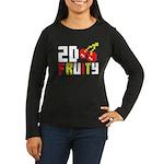 2D Fruity Women's Long Sleeve Dark T-Shirt