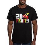 2D Fruity Men's Fitted T-Shirt (dark)